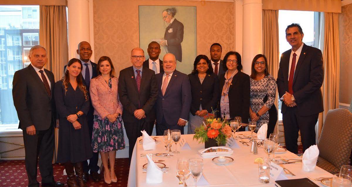 Réception  pour S.E. M André Frenette, Directeur de l'Amérique Centrale et de la Caraïbes à Affaires Mondiales Canada