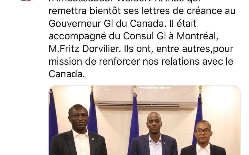 Dr Wien Weibert Arthus, Ambassadeur d'Haiti au Canada